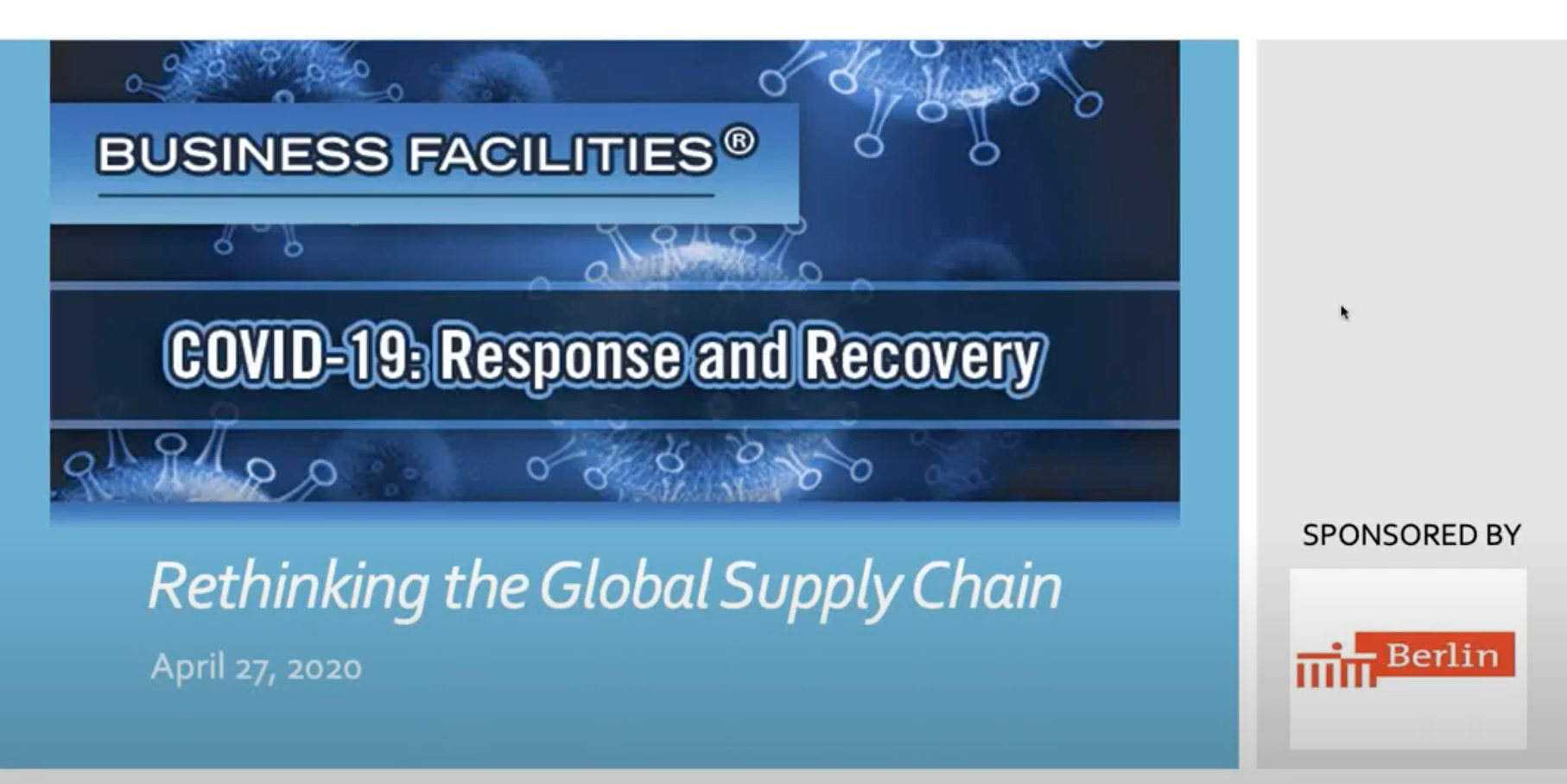 Business Facilities Webinar: Rethinking the Global Supply Chain